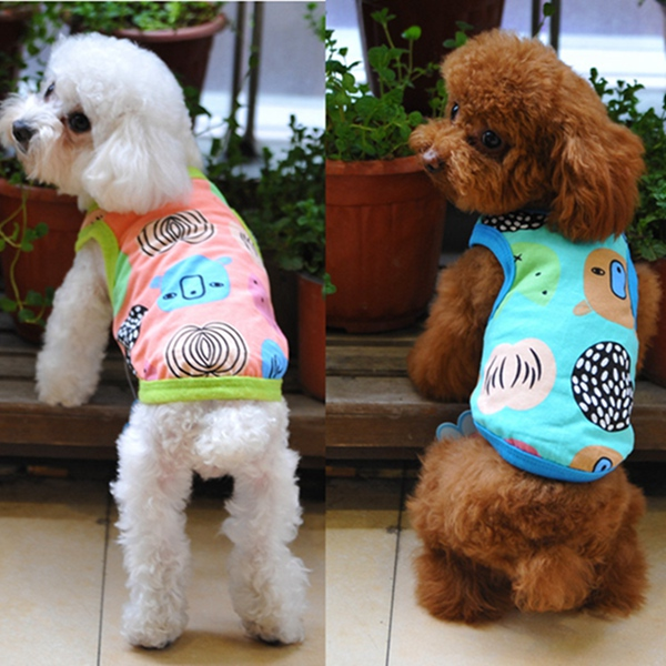 5 Color Summer Small Cat Dog Beach T-Shirt Vest Clothes Puppy St