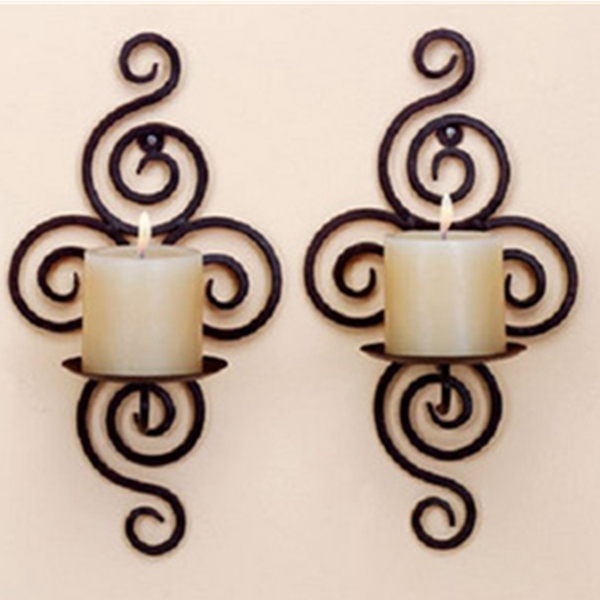 Candle Holder Wall Hanging Sconce Furnishing Articles Handmade I