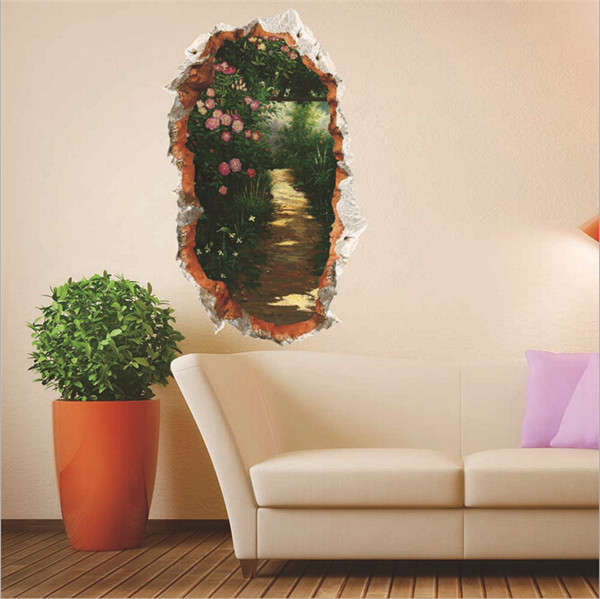 3D Alameda Wall Decals Removable Secret Garden Wall Stickers Wal