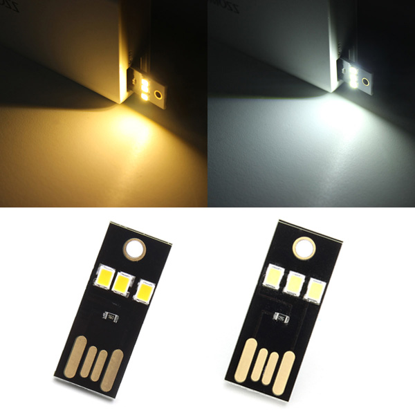 0.2W White/Warm White Mini USB Mobile Power Camping LED Light La