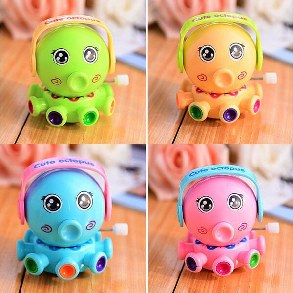 Plastic Clockwork Rotating Cartoon Small Octopus Chain Toys