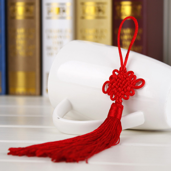 10Pcs Red Hand-knit Chinese knot Gift Celebration Supplies Car P