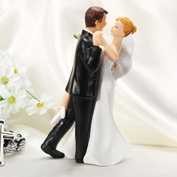 Sexy Dancing Bride And Groom Figurine Cake Topper