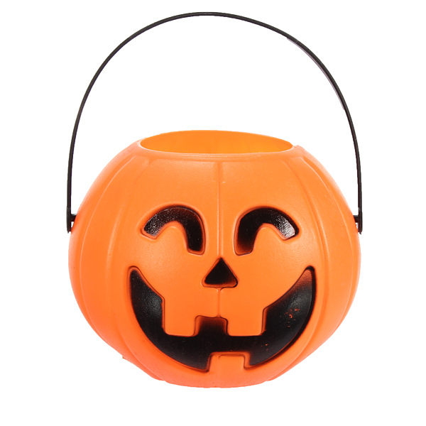 12cm Halloween Pumpkin Candy Jar Halloween Supplies Decoration P