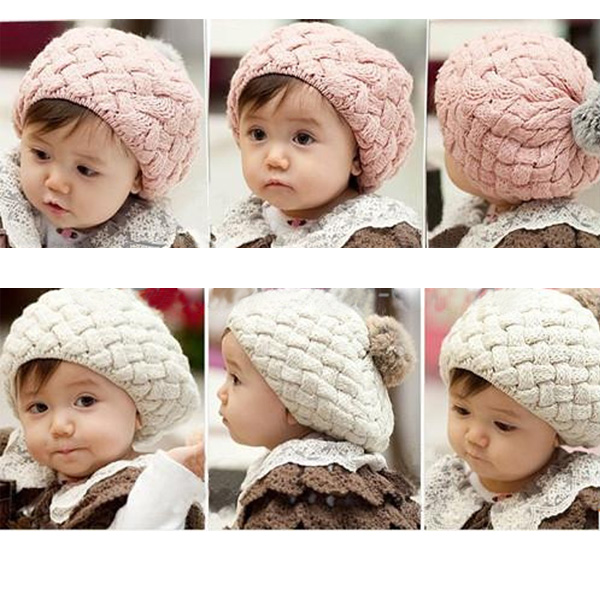 Baby Children Fashion Cute Winter Warm Knit Crochet Beanie Hat