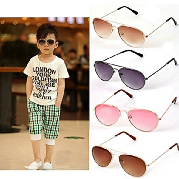 Cute Baby Boys Girls Kids Sunglasses Metal Frame Child Goggles