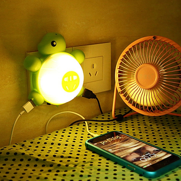 LED Light Control Sound Sensor Cute Turtle Night Light Creative