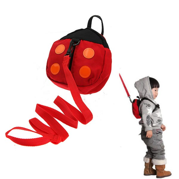 Baby Kid Safety Harness Strap Ladybug Bag Anti-lost Walking Wing