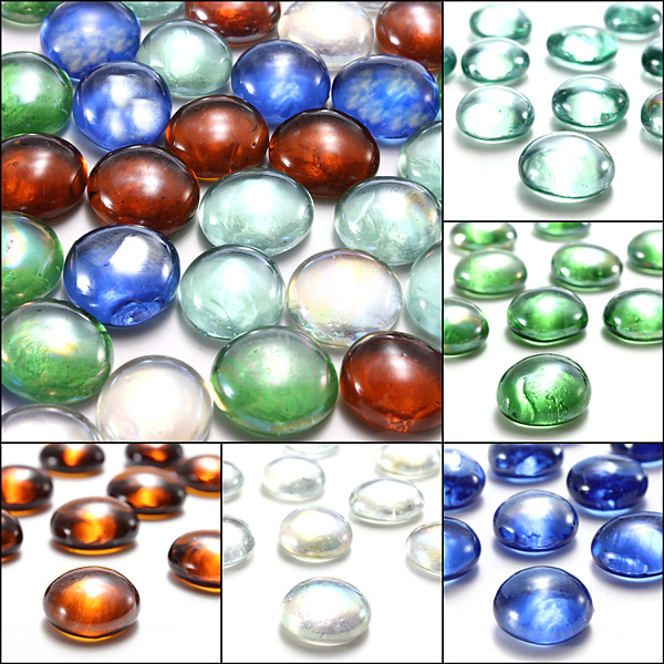 10 Glass Marbles Beads Balls Fish Tank Decor Landscaping 16mm