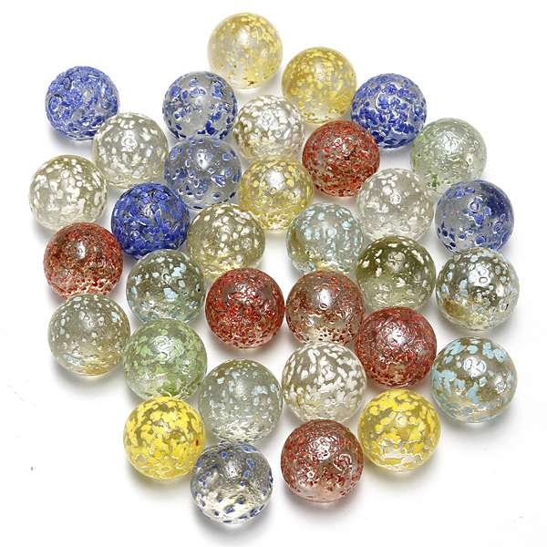 10 Glass Marbles for Aquarium Tank Decoration or Toy Game Play 1