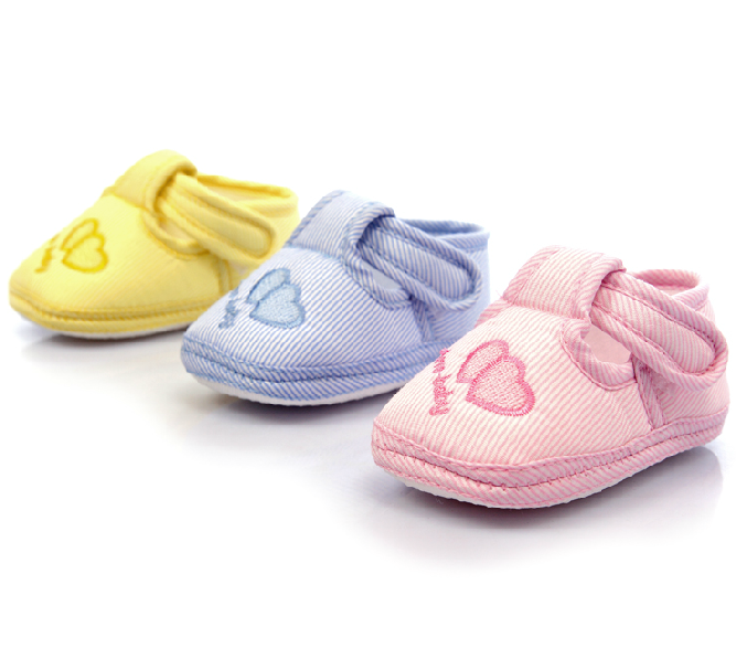 3 Colors New-born Baby Lovely Soft Sole Skid-proof Shoes