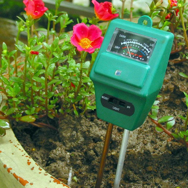 3 in 1 Garden Soil Analysis Tester Hygrometer Acidity PH Light T