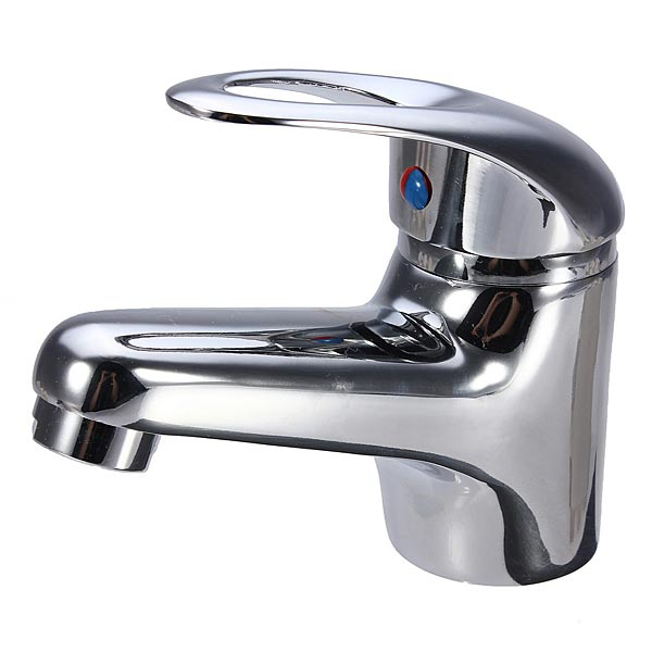 Chrome Bathroom Plated Brass Basin Sink Mixer Tap Faucet Spout S