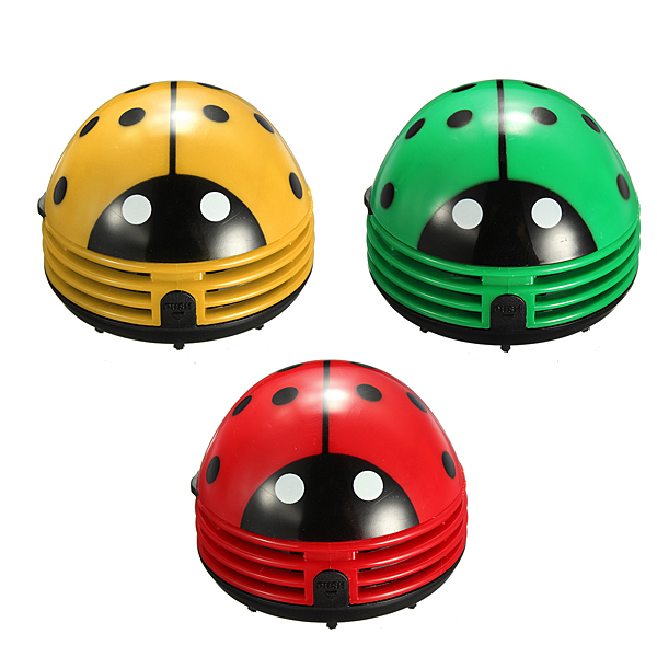 Cute Portable Beetle Ladybug Desktop Vacuum Desk Dust Cleaner