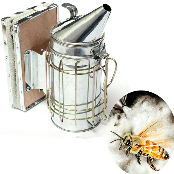 Bee Smoker Galvanized Sheet With Heat Shield Beekeeping Equipmen
