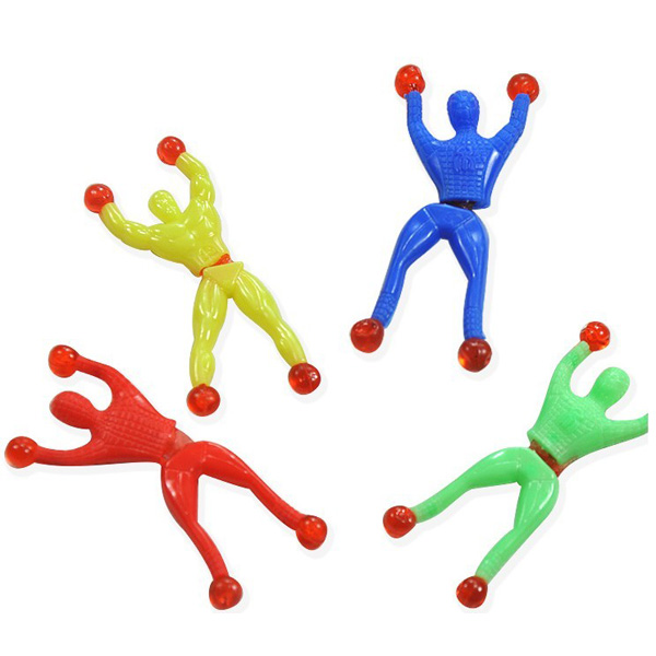10pcs Children Toys Parcourir Wall Climbing Superman Spider Man