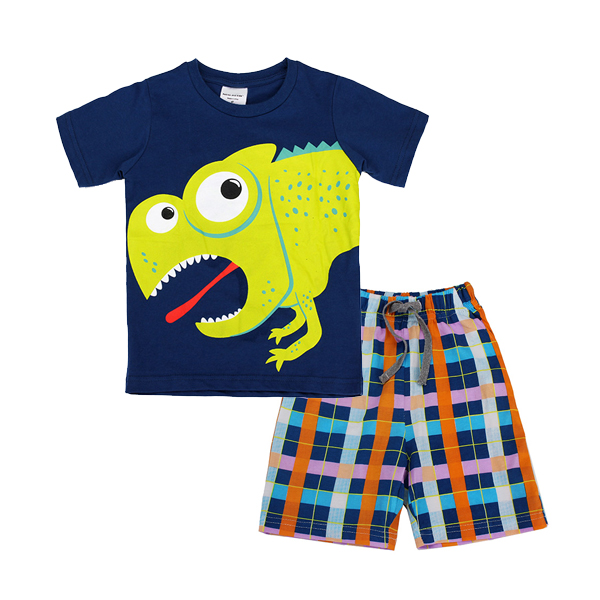 2015 New Lovely Frog Baby Children Boy Pure Cotton Short Sleeve