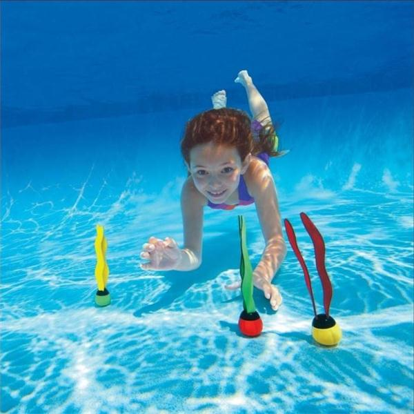 3Pcs Lot Children Water Toys Sctivity Scuba Diving Seaweed Seagr