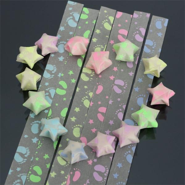 1 Pack 30 Strips Foot Print Folding Children Lucky Wish Stars Or