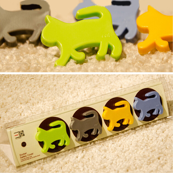 4Pcs New Child Proof Cute Animal Safety Electric Outlet Plug Pro