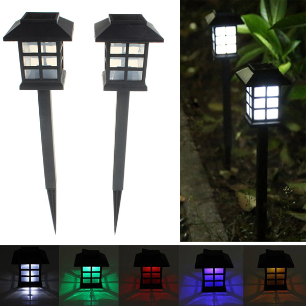 2pcs Garden Solar Oriental LED Lamp Outdoor Yard Lawn Decorative