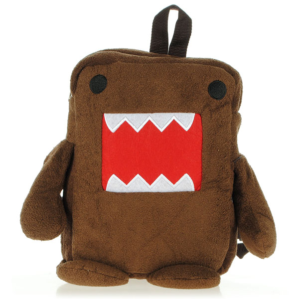 Domo Kun Figure Plush Soft Cartoon Backpack Brown Bag